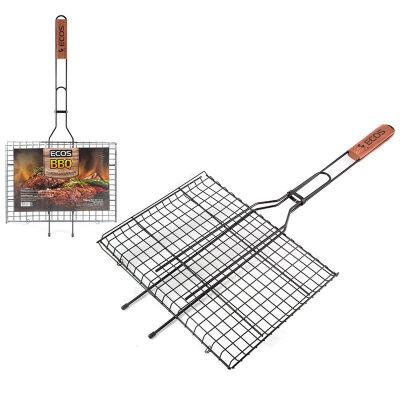 Решетка гриль с антипригарным покрытием ECOS RD-172D 35x25x2 см, общая длина 70 см